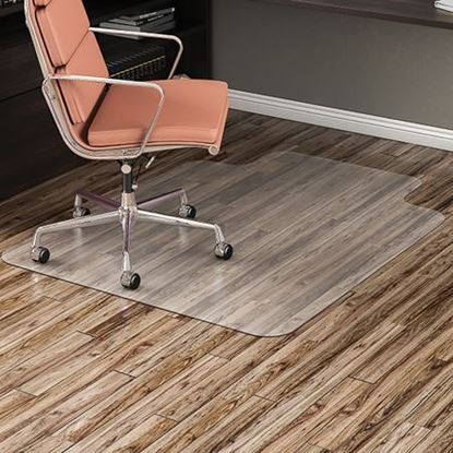 "Picture of Hard Floor Chairmat 45"" x 53"" w/25"" x 12"" Lip"