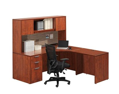 Picture of Premiera PL Series/Office Source OS Laminate Collection L Desk w/hutch