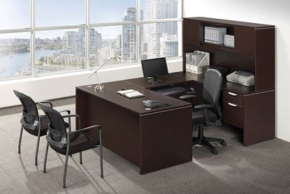 Picture of Premiera PL Series/Office Source OS Laminate Collection U Shaped Desk w/hutch