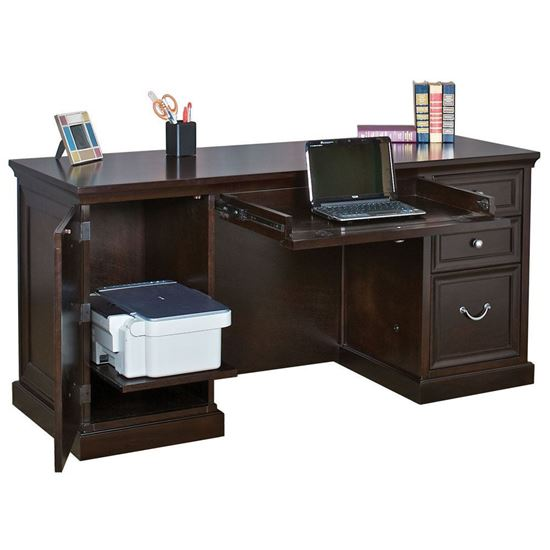 Picture of OfficeSource®  Markle Collection Space Saver Double Pedestal Desk