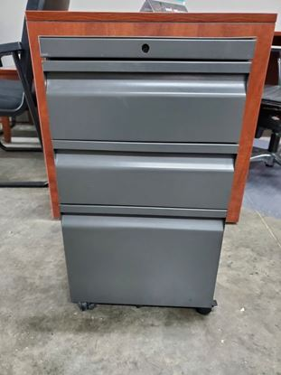 Picture of Knoll Charcoal Box/Box/File 3 Drawer Rolling Pedestal